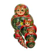10FM272A Nesting Doll  Flowers Assorted