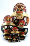 10FM184B Nesting Doll  Flowers Assorted