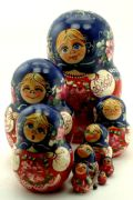 10FM312F Nesting Doll  Flowers Assorted