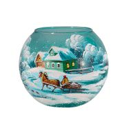 "Candlestick Vase Ball ""Winter Day. Vehicle"""