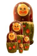 5FM273 Nesting Doll  w/Flowers Assorted