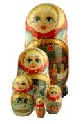 5TM663 Nesting Doll  Fairy Tales Assorted