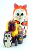 5CS867  Doll (5-1) Cat Assorted Small