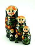 5FS111 Nesting Doll  w/Flowers Assorted