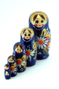 5FS445 Nesting Doll  w/Flowers Assorted