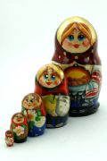 5FS454 Nesting Doll  w/Flowers Assorted
