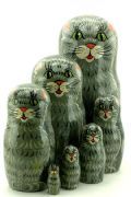 7CM850 Nesting Doll  Cats Assorted