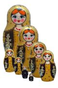 8FL202 Nesting Doll Straw Inlaid Assorted