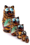 5CS867B Nesting Doll  Cats Assorted